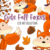 Cute Fall Foxes Clip Art Collection