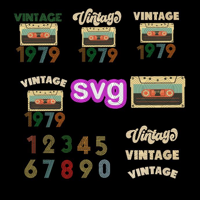 customize: vintage birthday gift, birthday cassette tape vintage sine 1979,