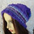Hand Knitted Women's Two Style Random Winter Hat With A White Faux Fur Pom Pom -