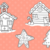 Gingerbread Houses Digital Stamps