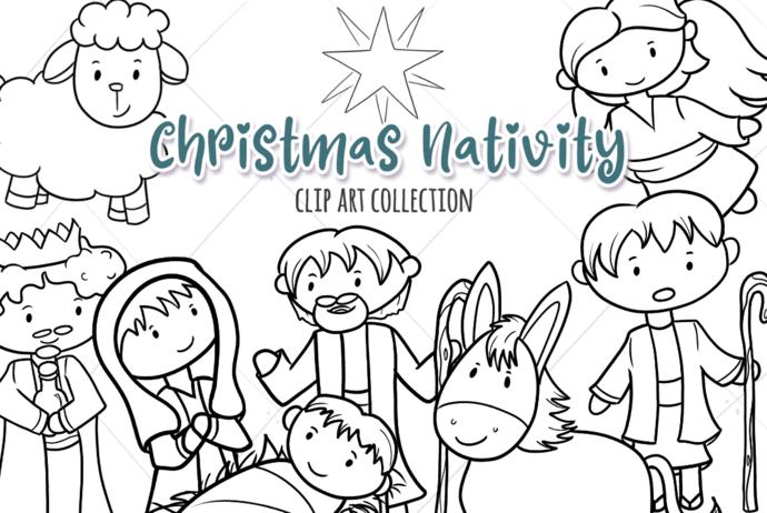 Christmas Nativity Digital Stamps