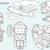 Airplane Travel Digital Stamps
