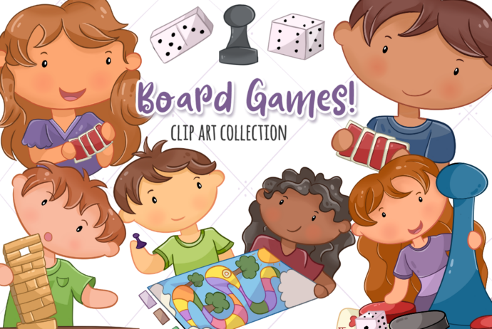 Board Games Clip Art Collection