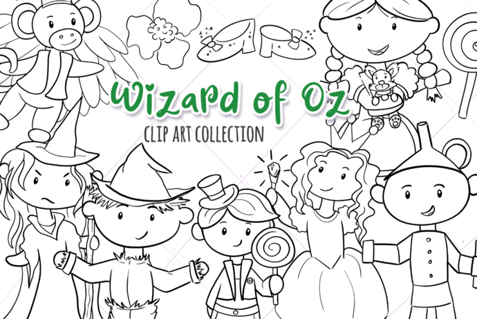 Story Book Digital Stamps