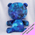 MADE-TO-ORDER CHUBBY BEAR: Light Blue Embossed Textured Faux Fur (Deluxe)