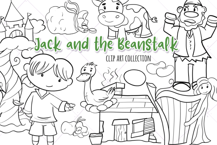 Jack and the Beanstalk Digital Stamps