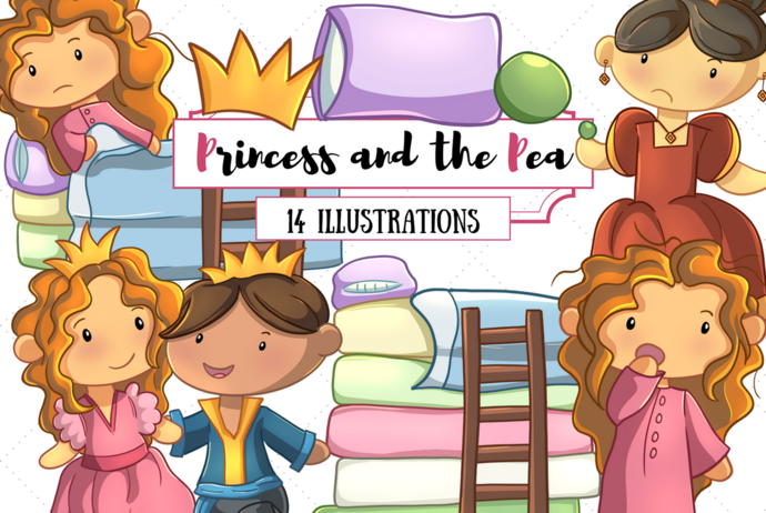 Princess and the Pea Clip Art Collection