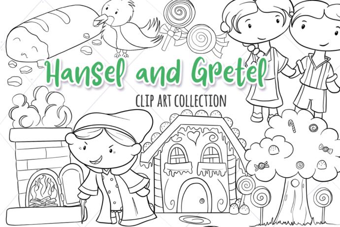 Hansel and Gretel Digital Stamps