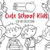 Cute School Kids Digital Stamps