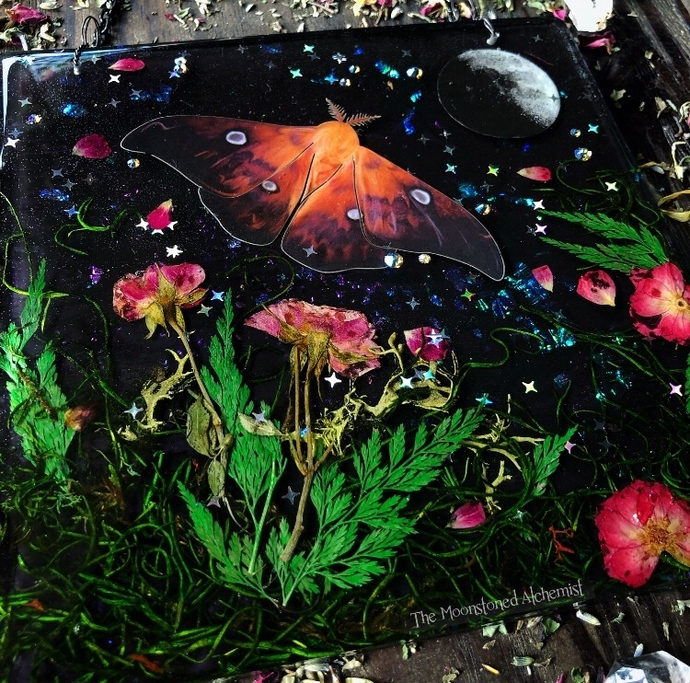 Lg Magical wall tile infused with botanicals, moon magic, and an ethically