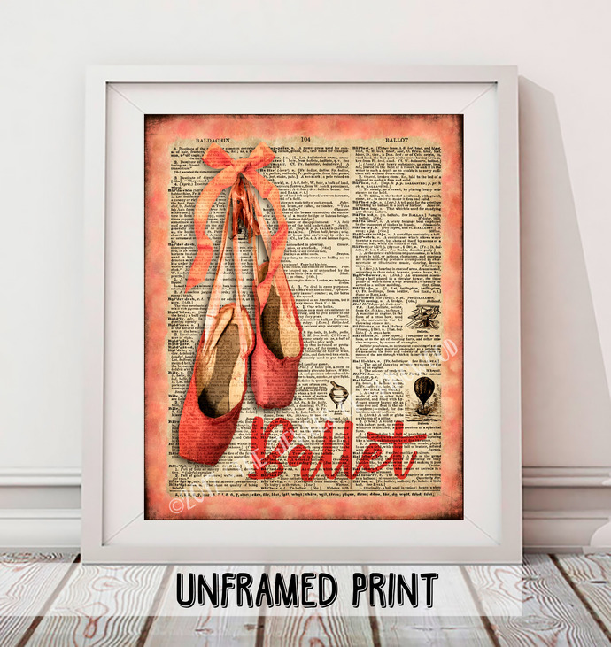 Ballet Shoes Dictionary Page Art Print - Marilyn Monroe Quote Art