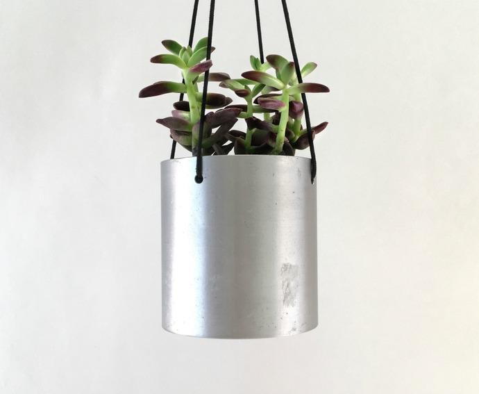 Small Modern Indoor Hanging Cactus Pot, Hanging Plant Holder, Modern Metal