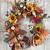 Fall Door Wreath for Halloween and Thanksgiving, Floral Outdoor Grapevine,