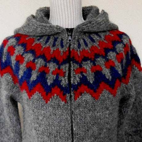 Red and Blue Woolen Sweater