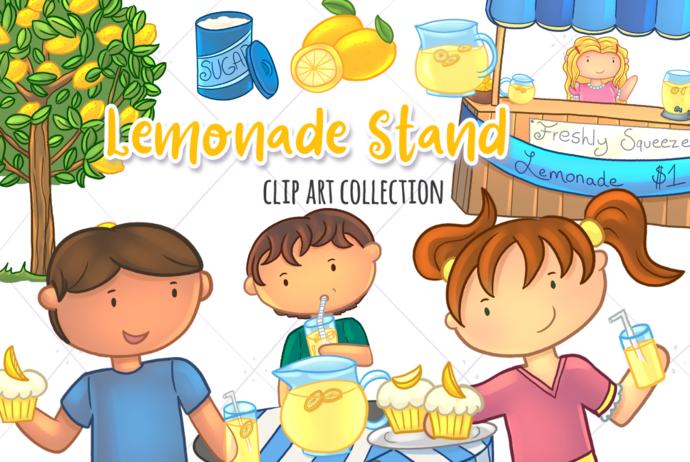 Lemonade Stand Clip Art Collection