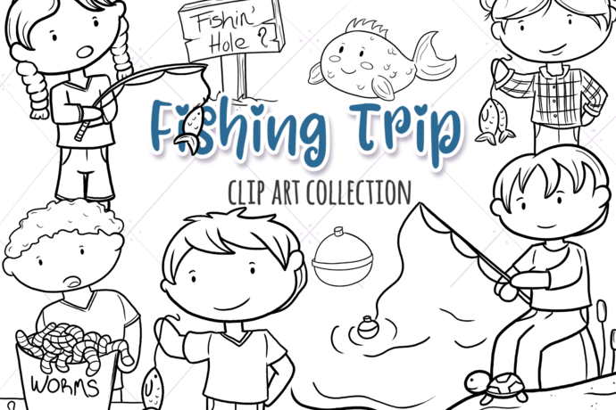 Fishing Trip Digital Stamps