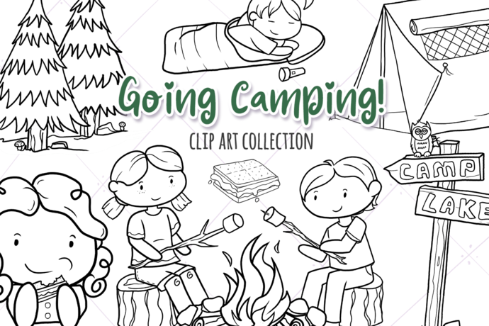 Going Camping Digital Stamps