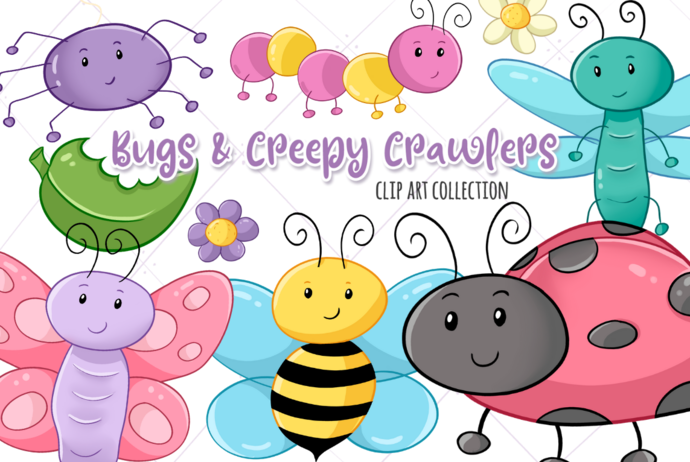 Bugs and Creepy Crawlies Clip Art Collection