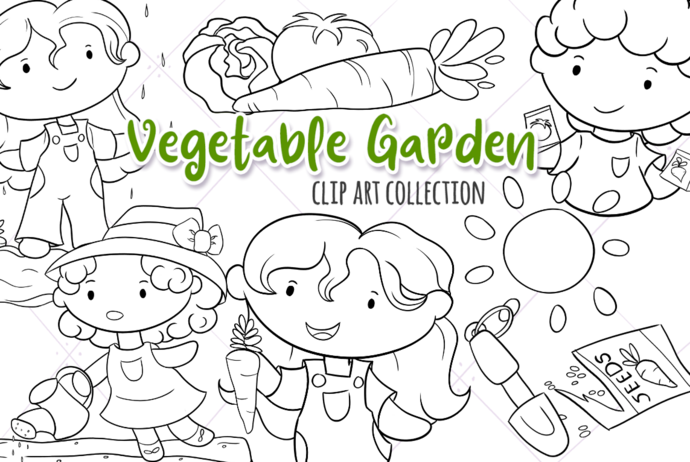 Vegetable Garden Digital Stamps
