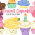 Kawaii Cupcakes Clip Art Collection