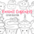 Kawaii Cupcakes Digital Stamps