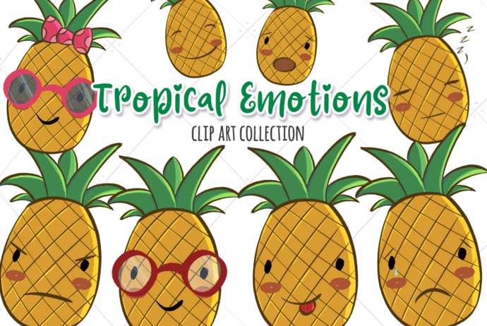 Tropical Emotions Clip Art Collection