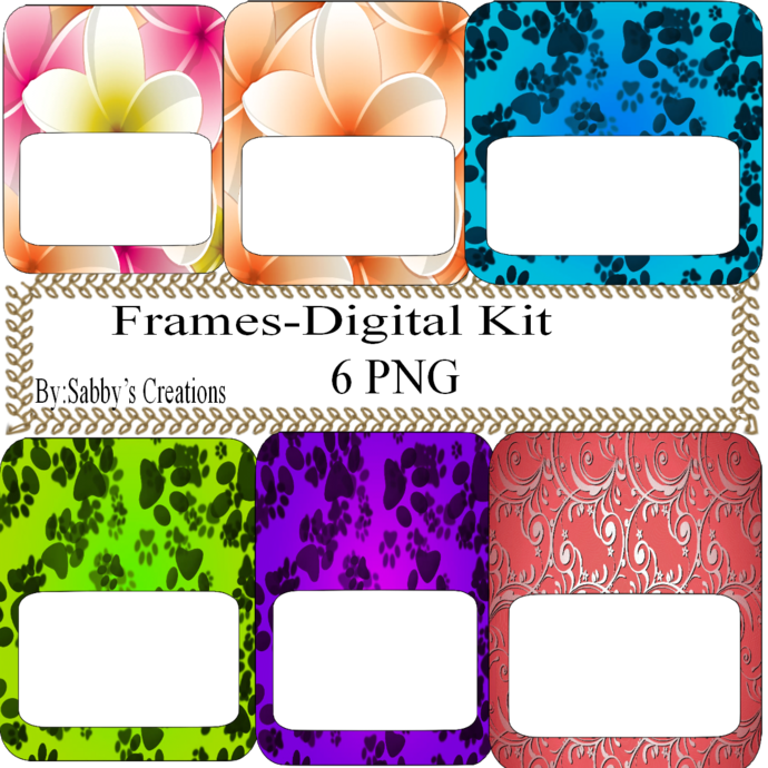 Frames Shapes 1N-Digital Kit-Jewelry Tag-Clipart-Gift Tag-Holiday-Digital