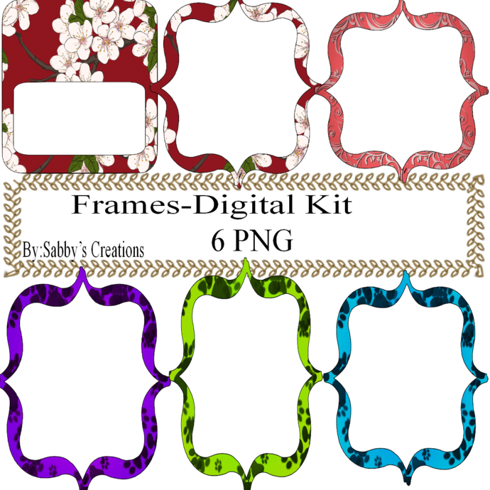 Frames Shapes 1O-Digital Kit-Jewelry Tag-Clipart-Gift Tag-Holiday-Digital
