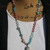 Dreamy Hand knot beaded Necklace with Moonstone face Pendant set in Sterling