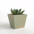Succulent Planter in Hand Painted Distressed Moss Green