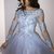 Long Sleeve Appliques Tulle Homecoming Dress, Short Prom Gowns, Senior Prom