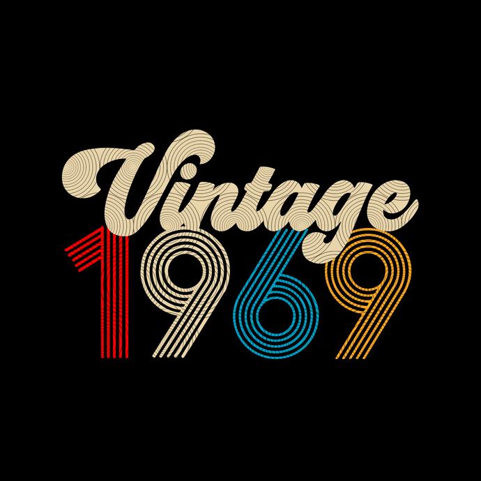 Vintage 1969, Retro 1969, 50 birthday cricut, 50 Years Old svg, vintage