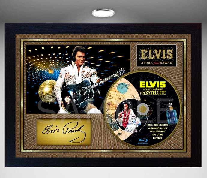 Aloha from Hawai signed autograph Music pre-print poster photo Framed CD Disc #1