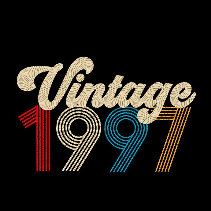 Vintage 1997, Retro 1997, 22 birthday cricut, 22 Years Old svg, vintage