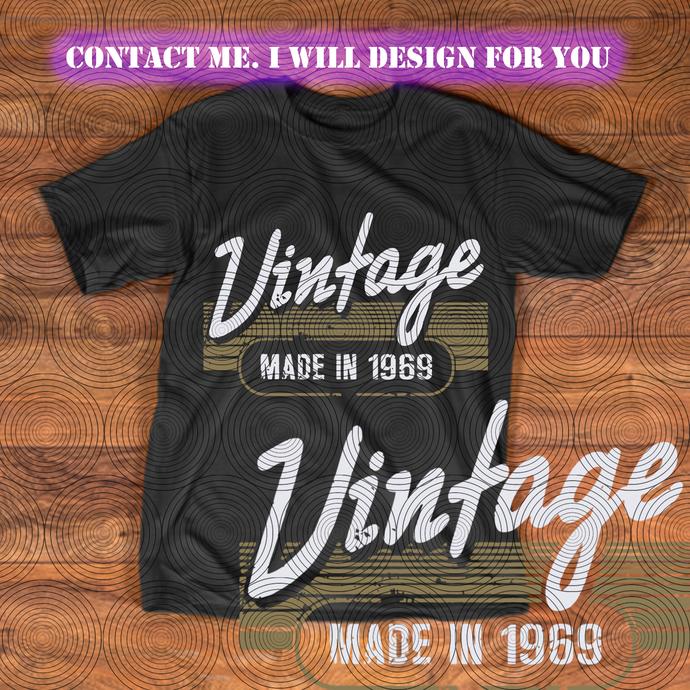 50 Years Old svg, vintage made in 1969 svg, 50th Birthday svg, vintage svg,