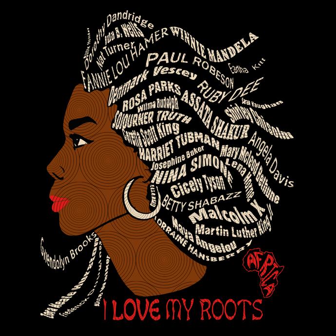 Black is Beautiful, Black History Month Hair Word Black Mixed svg, Black svg,