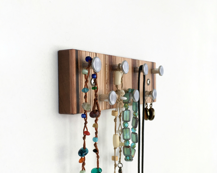 Striped Jewelry Rack, Wall Mountable, Minimalist Modern Style