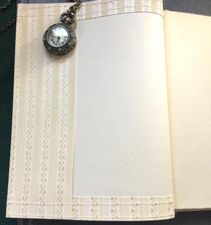 Handmade Notebook with wallpaper cover - Tiny Hearts 80 pages