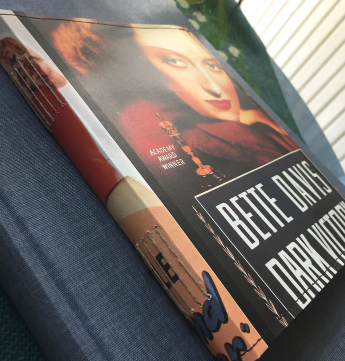 Handmade Notebook with wallpaper cover - Bette Davis & co 80 pages