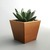 Geometric Modern Wood Succulent Planter