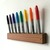 Dry Erase Marker Holder, Modern Minimal Solid Wood