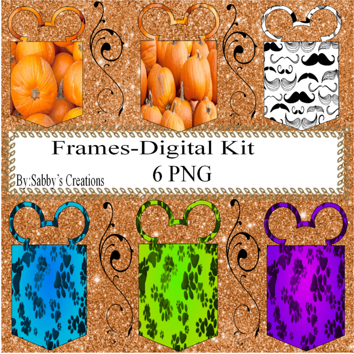 Frames Shapes 1S-Digital Kit-Jewelry Tag-Clipart-Gift Tag-Holiday-Digital