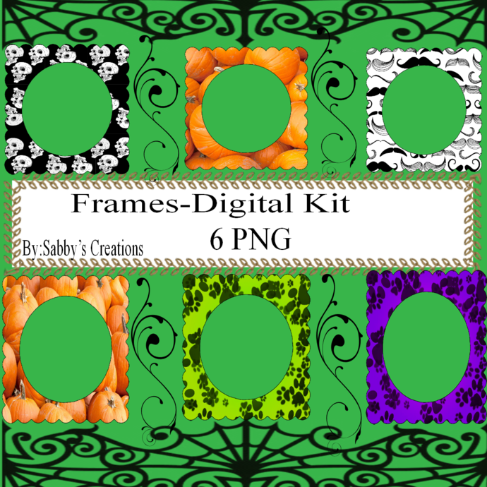 Frames Shapes 1W-Digital Kit-Jewelry Tag-Clipart-Gift Tag-Holiday-Digital