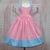 Girl Pink Dress, Girl Blue Dress, Pink and Blue Dress, Pink Polka Dots Dress,