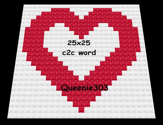 Heart 25x25 c2c (CORNER to CORNER)