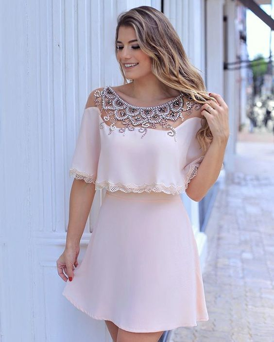 cut homecoming dress with beadings