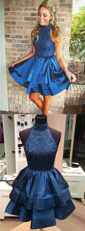 Custom Made Royal Blue Homecoming Dress,Short Prom Dress,Party Dress,Chic