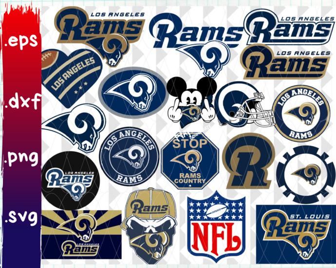 Clipartshop Los Angeles Rams Los By Clipartshopcreations On Zibbet