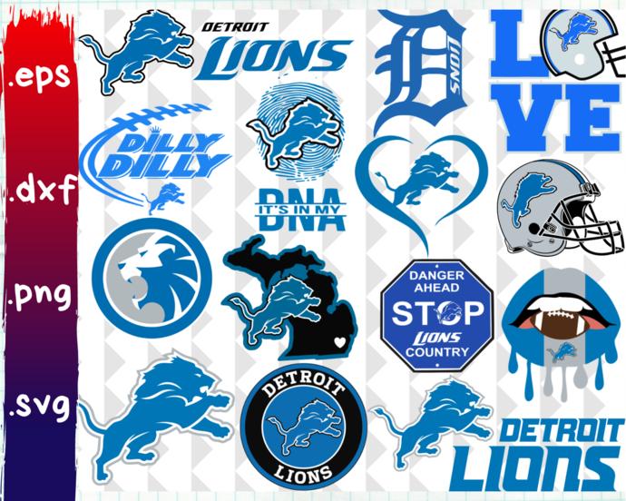 ClipartShop, Detroit Lions, Detroit Lions svg, Detroit Lions logo, Detroit Lions