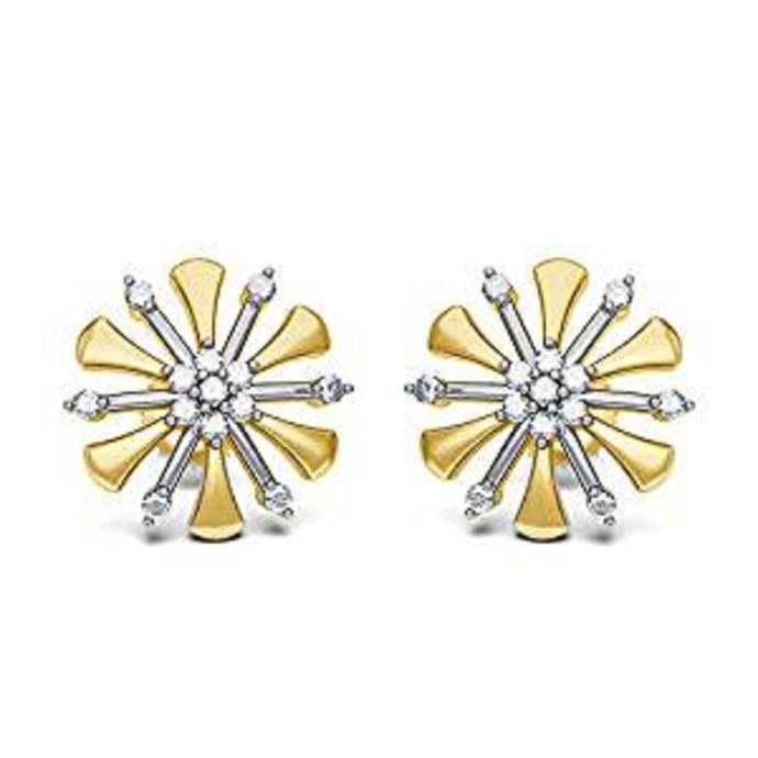 Sun Earrings Stud Gold Sun Stud Earrings Girl Power Minimalism Feminist Earrings